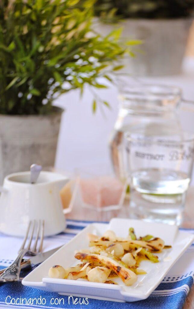 Ajetes con vinagreta de mostaza-cocinando-con-neus