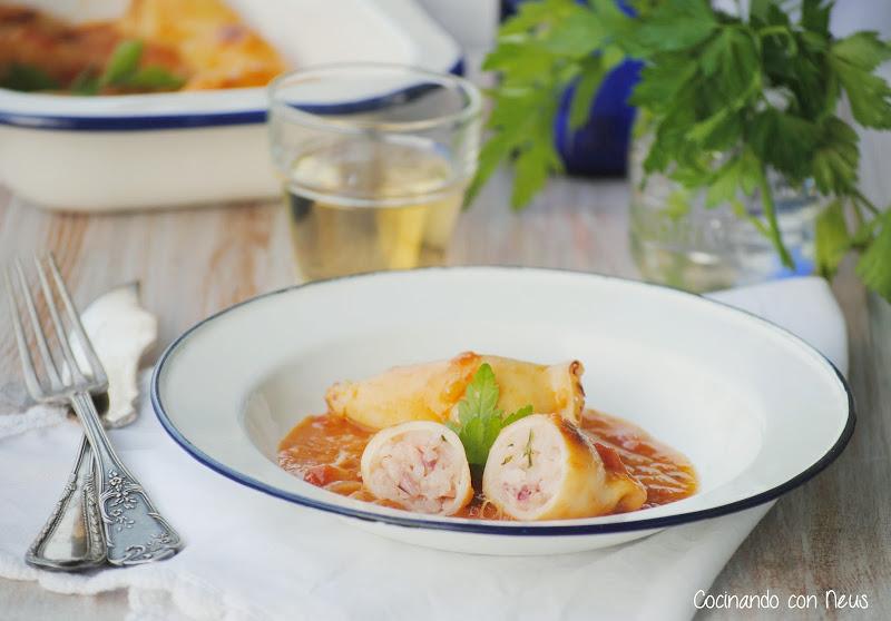 Calamares rellenos de arroz revista lecturas