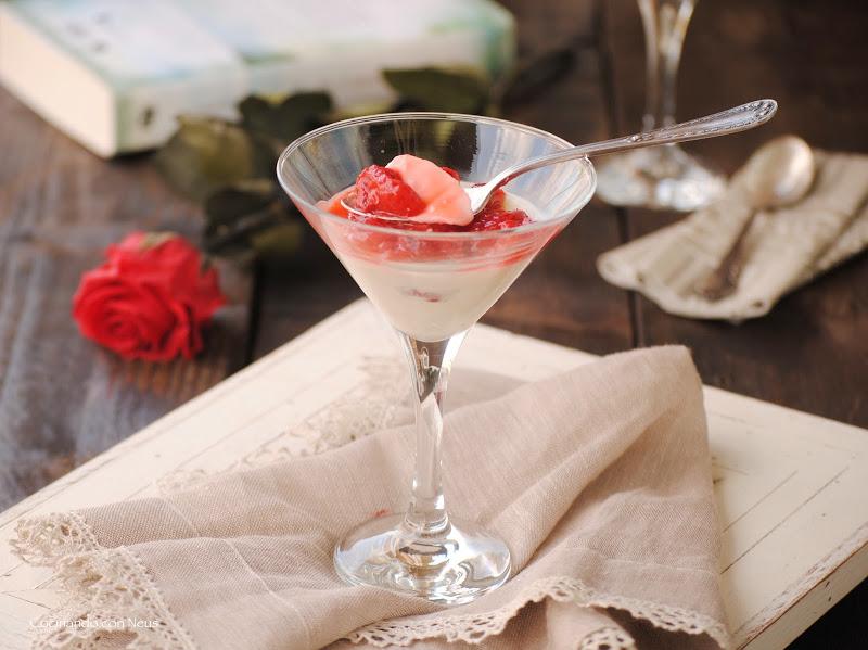 Panna cotta con fresas