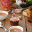 Crema de tomate con queso feta y pesto con Thermomix