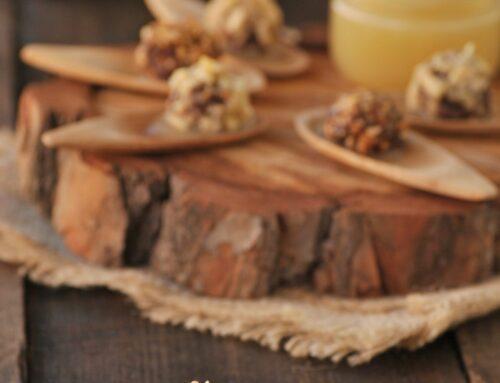 Bombones de morcilla con puré de manzana con Thermomix