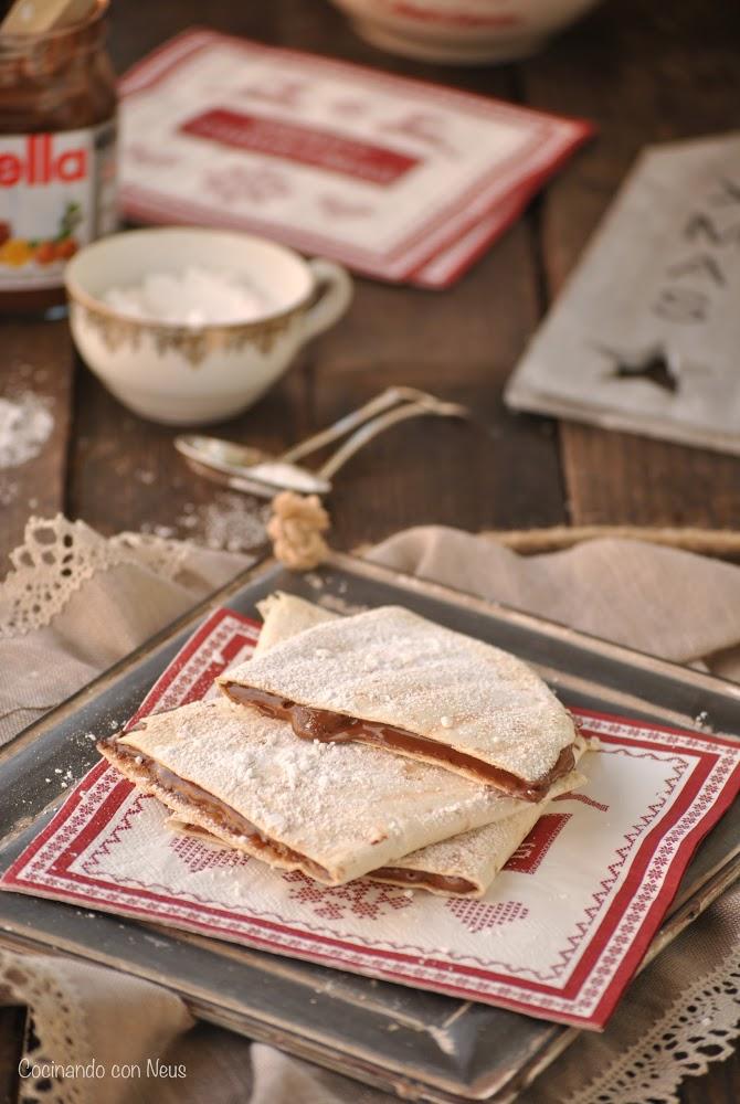 Tortillas de trigo con Nutella para los Reyes Magos y dos princesas