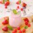 Batido de fresas con frambuesa y bebida de coco con Thermomix