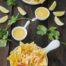 Nachos con salsa cheddar y pico gallo con Thermomix