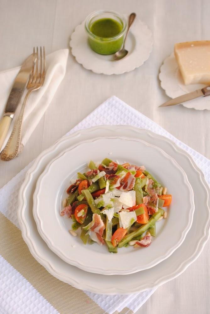 Judías verdes con salsa pesto