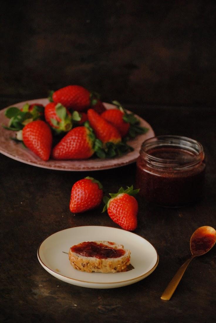 Mermelada de fresa con canela