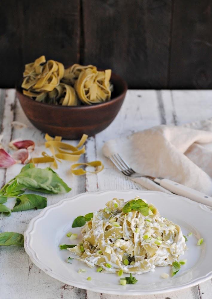 Tagliatelle de espinacas con ricota