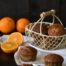 Magdalenas de naranja con harina de espelta