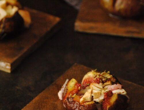 Higos con queso de cabra al horno