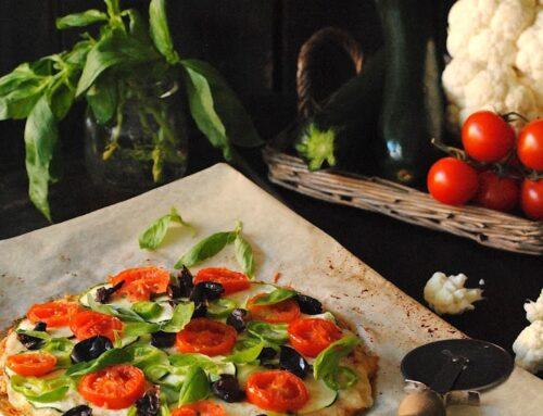 Pizza con base de coliflor  #RetoSaboresdeTemporada