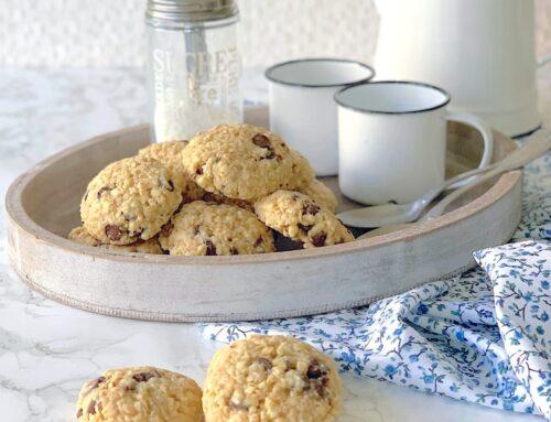 Cookies de avena con almendra y chips de chocolate