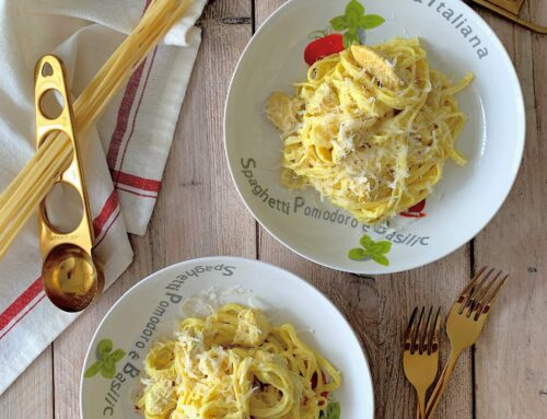Spaguettis con pollo al curry
