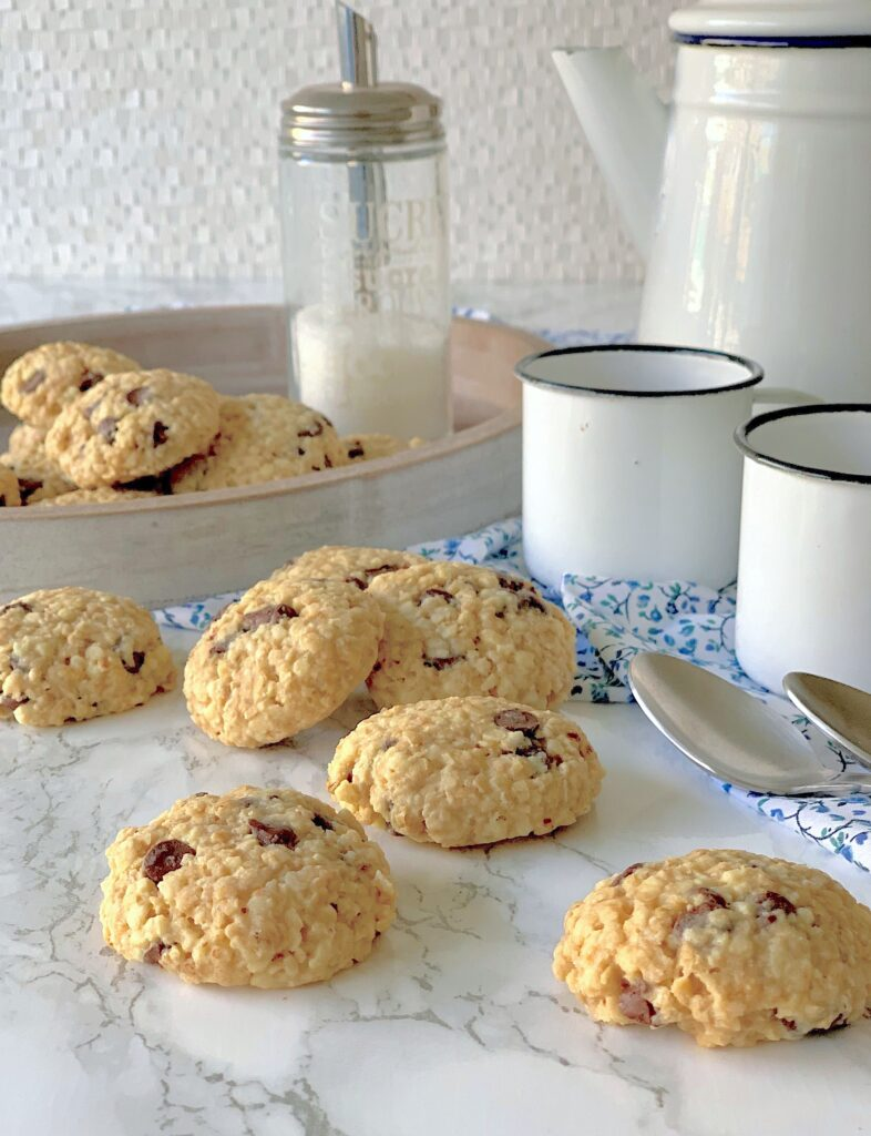 Cookies de avena y almendras con chips de chocolate