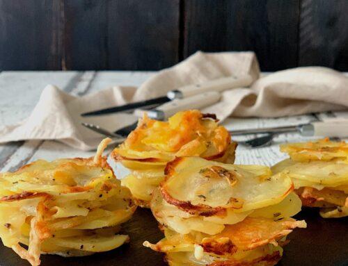 Timbal de patatas y queso
