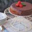 Bizcocho de chocolate con cobertura de chocolate y de frambuesa con Thermomix