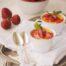 Crema catalana con fresas salteadas a la pimienta rosa con Thermomix
