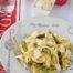 Fetuccine con gorgonzola y espárragos trigueros con polvo de chalotas con Thermomix