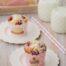 Muffins de chocolate blanco con frambuesas y coco con Thermomix