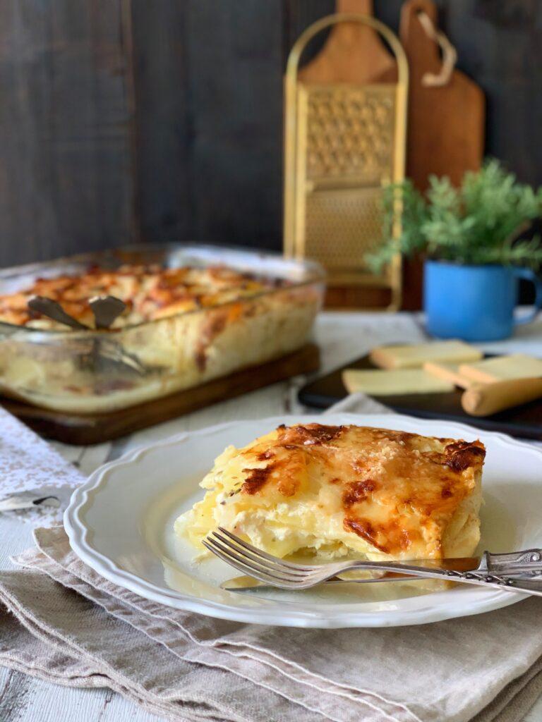 Gratinado de patatas con raclette