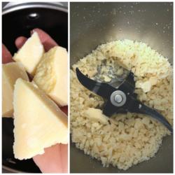 Rallar queso con Thermomix