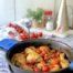 Jamoncitos de pollo al cava con tomates cherry