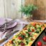 Tarta de br´coli con mascarpone y tomates cherry