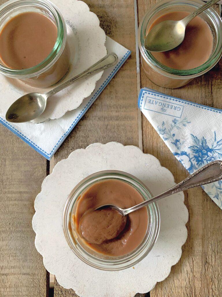 Natillas con chocolate con leche con Thermomix