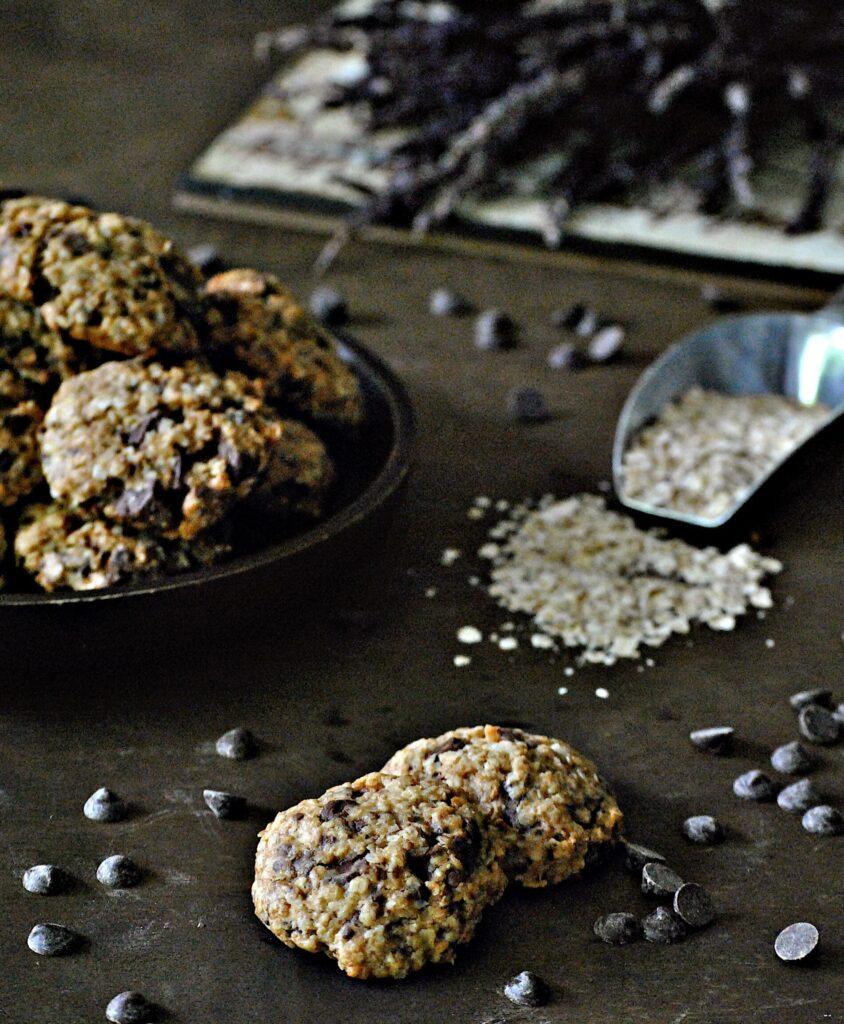 Cookies de avena con coco y chocolate