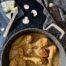 Jamoncitos con salsa de champiñones y gorgonzola