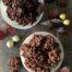 Rocas de chocolate con barquillos