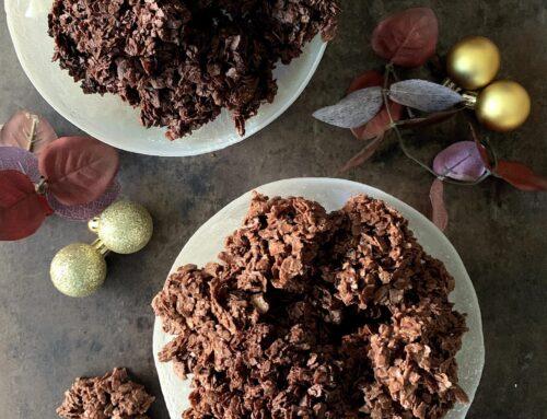 Rocas de chocolate con barquillos #Ohgar