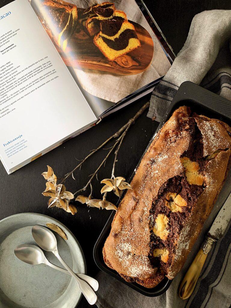 Cake de almendras y cacao con thermomix