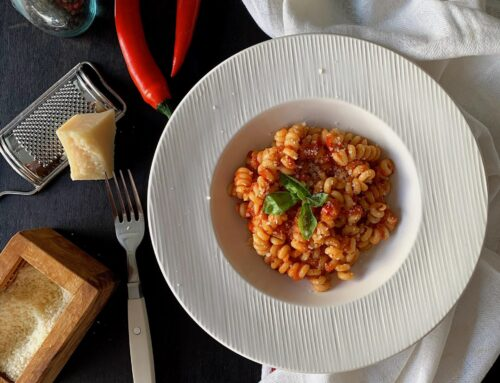 Fusilli all'arrabbiata con anchoas #thermomix