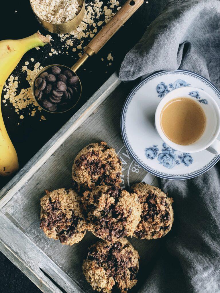 Cookies de avena con plátano y coco