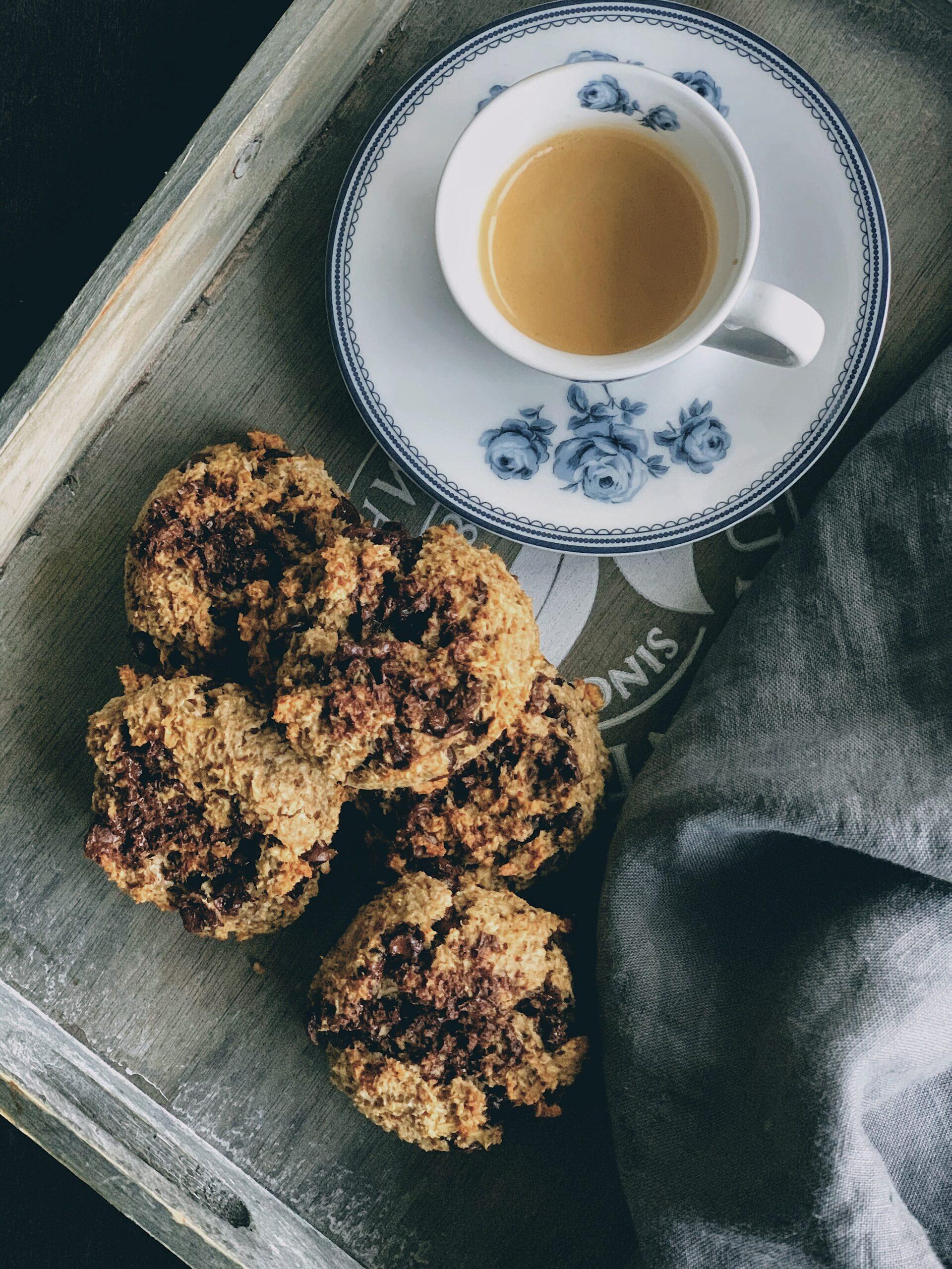 Cookies de avena con plátano, coco y chocolate