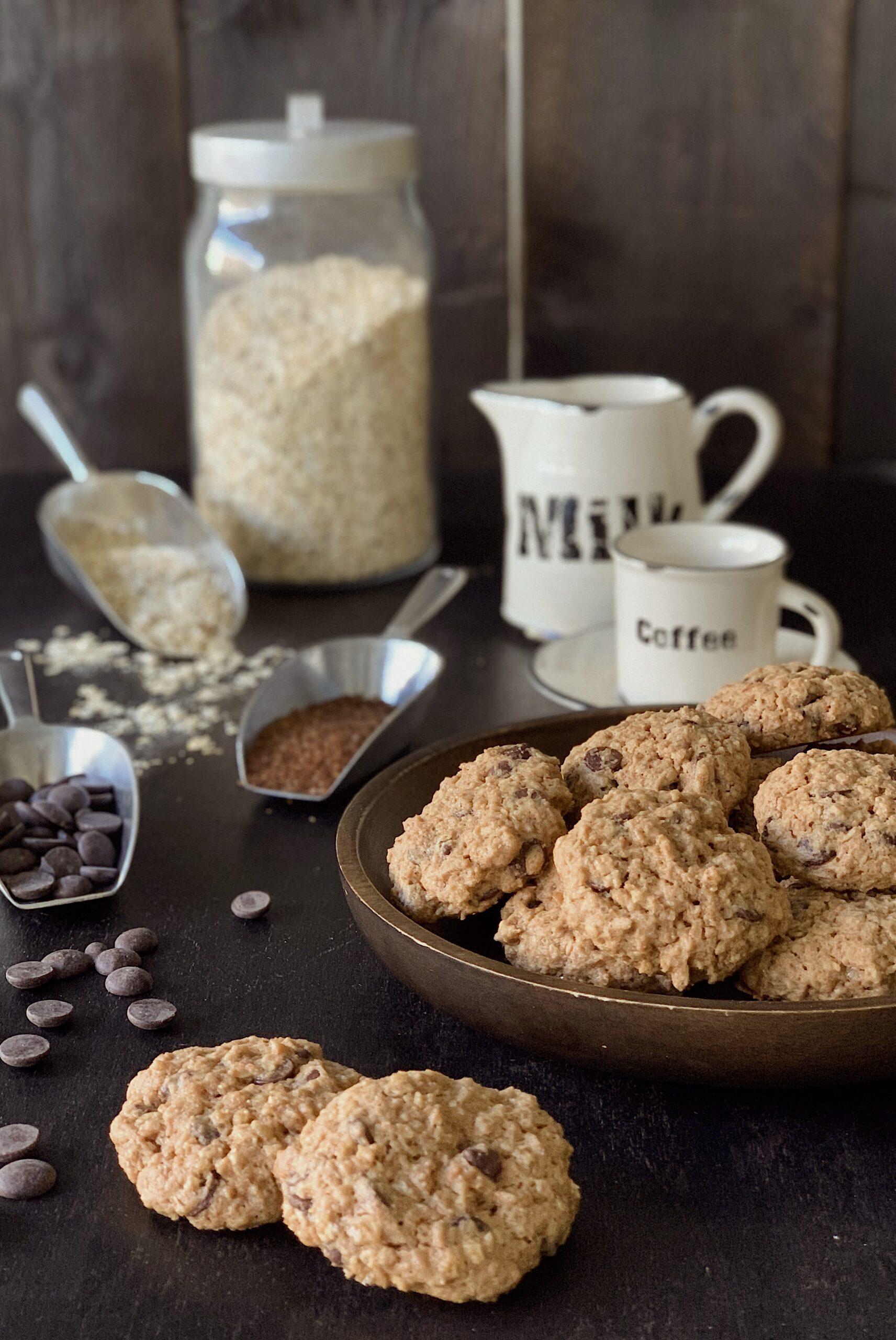 Cookies galletas avena y sésamo