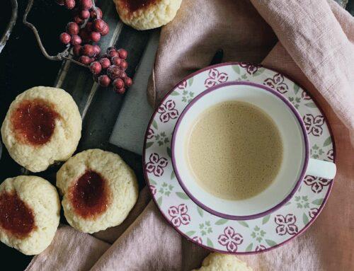 Thumprint cookies con mermelada de fresa