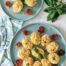 Huevos rellenos de bonito y piquillos