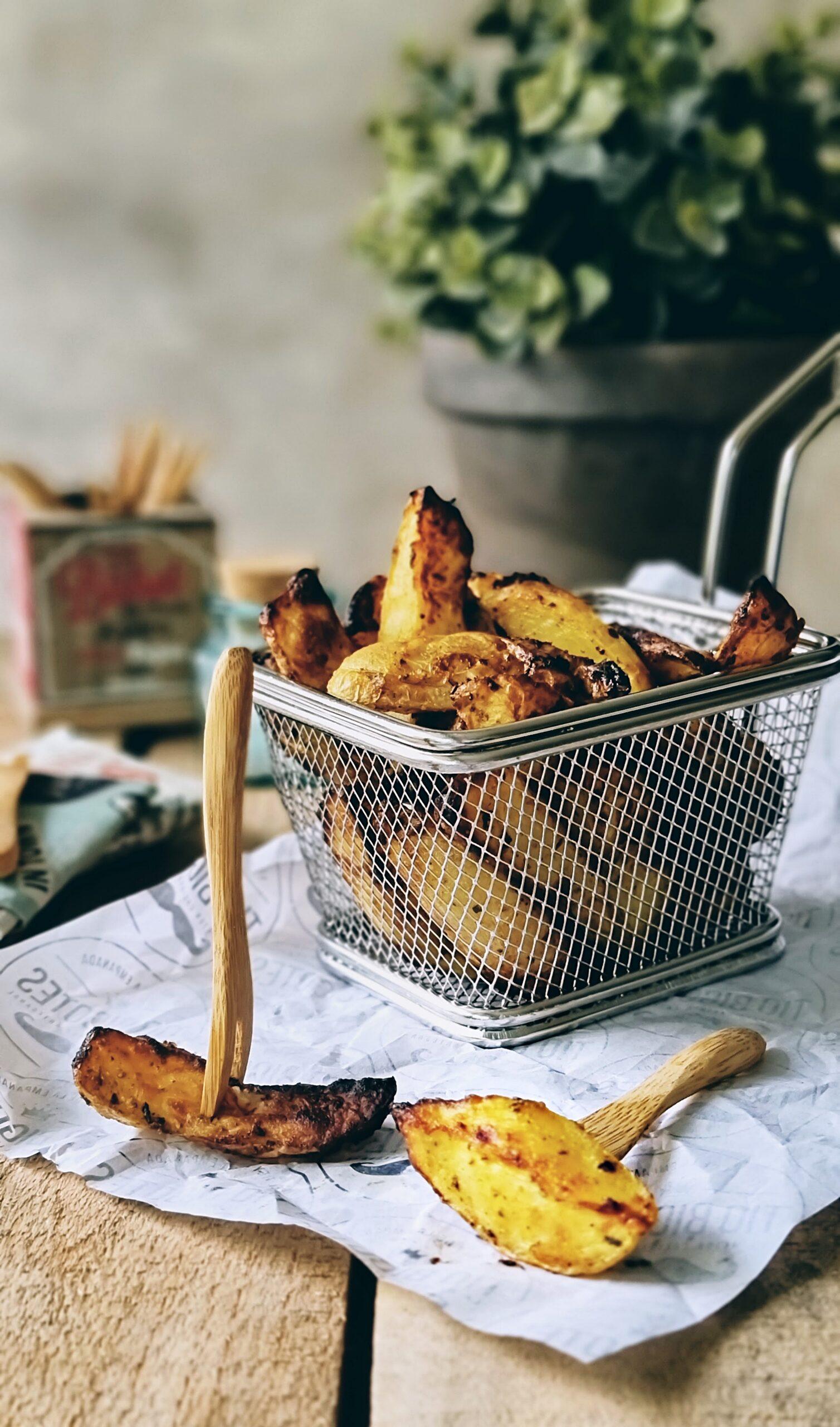 Patatas gajo con mostaza en Air Fryer