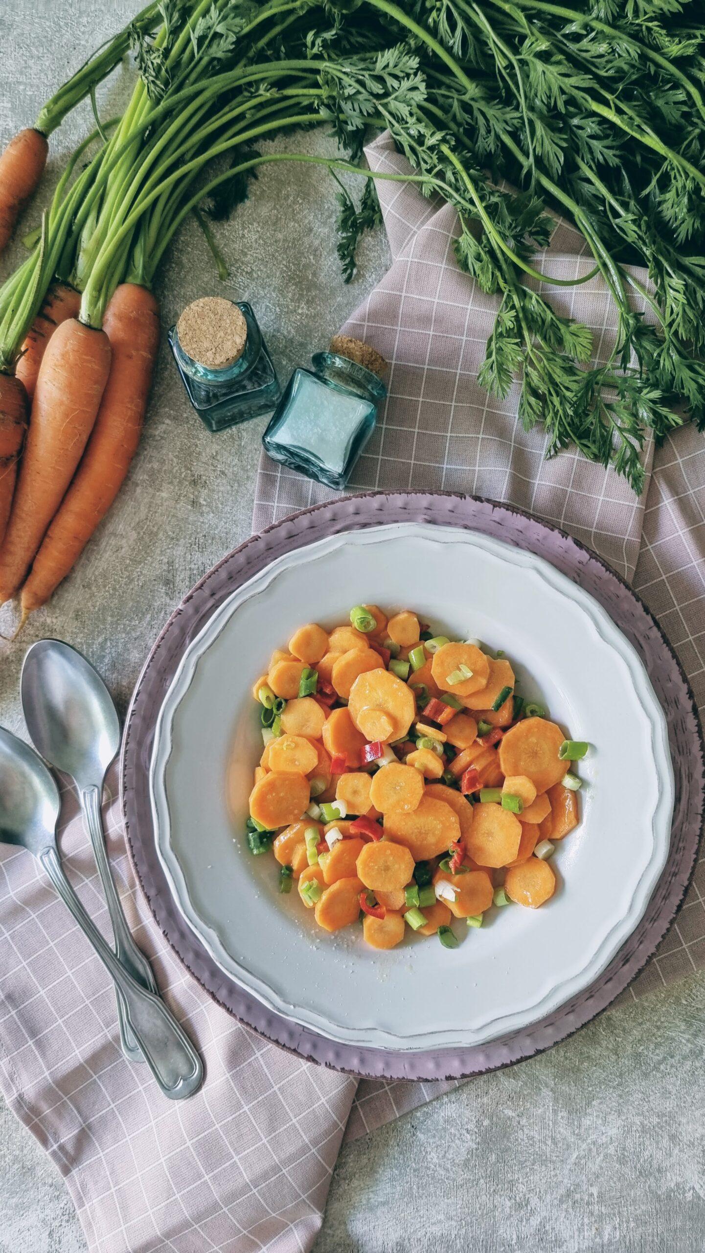 Zanahorias con aliño Nuoc Cham